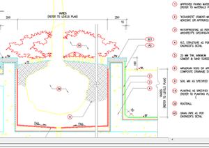 某现代风格园林景观树池扩初图设计CAD图纸12