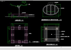 某现代风格园林景观树池扩初图设计CAD图纸13
