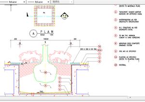 某现代风格园林景观树池扩初图设计CAD图纸17