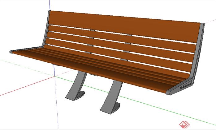 某现代风格园林景观坐凳su模型素材合集