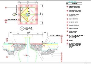 某现代风格园林景观树池扩初图设计CAD图纸35