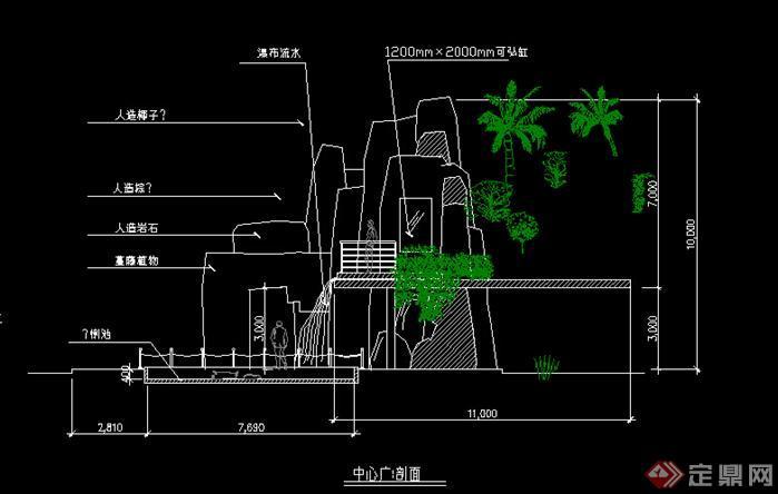 园林景观细部大样v细部假山图(CAD施工图)淋浴房cad图块图片