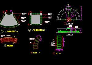 园林景观道路铺装、水池、驳岸、台阶等施工细部大样图(CAD施工图)