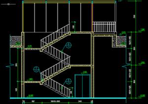 某现代风格楼梯踏步施工图设计CAD图纸-施工图DWG建筑设计楼梯踏