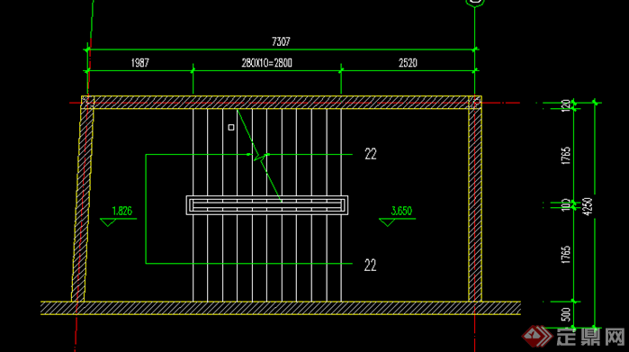 某现代风格楼梯踏步施工图设计CAD图纸