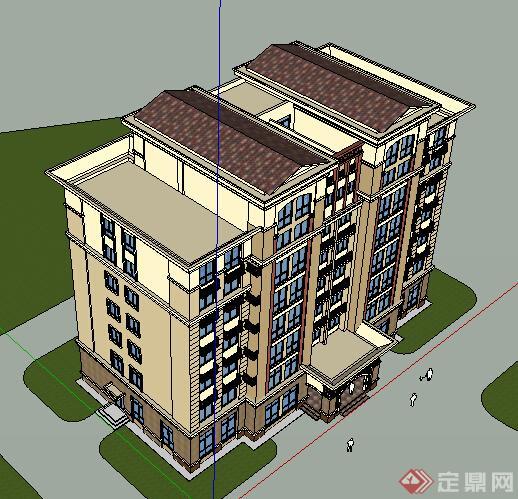 某现代酒店建筑设计方案su模型9