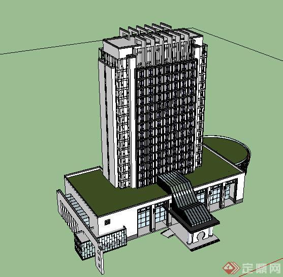 某现代酒店建筑设计方案su模型17