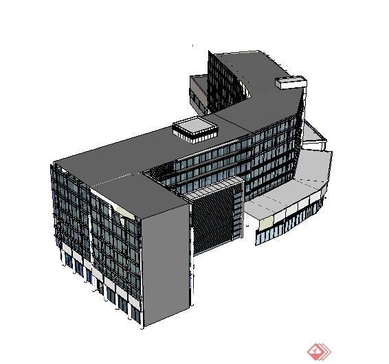 某现代酒店建筑设计方案su模型27