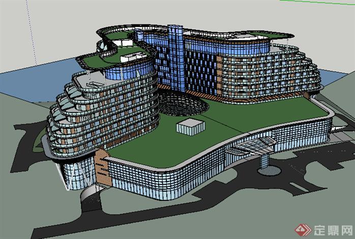 某现代酒店建筑设计方案su模型36