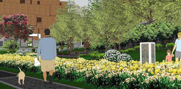 某居住小区园区景观绿化花卉设计SU模型素材,该模型设计的还是比较细致的,模型场景还是比较大的,方案设计的还是比较细致的,风格简约,设计内容也比较丰富,供广大景观设计,建筑方案设计人员。园林设计人员参考用途