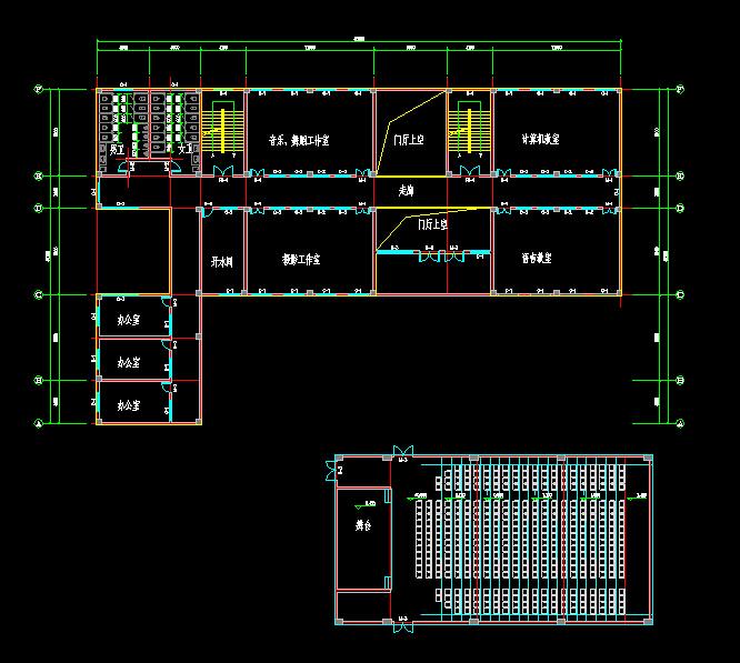 某大学生活动中心建筑设计地砖(CAD方案、sucad平面设计方案教程室内图片