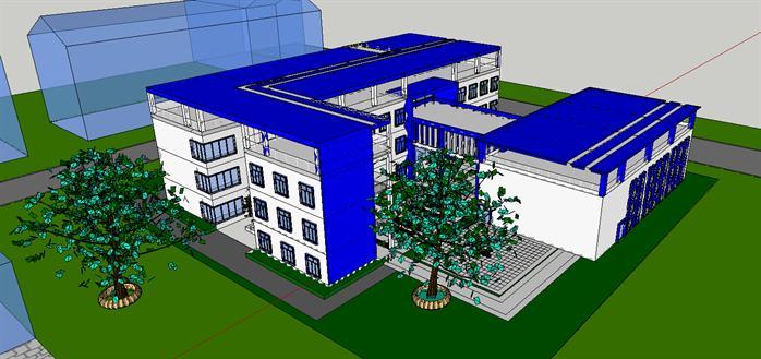 某大学生活动中心建筑设计方案(CAD方案、su2007cad安装图片
