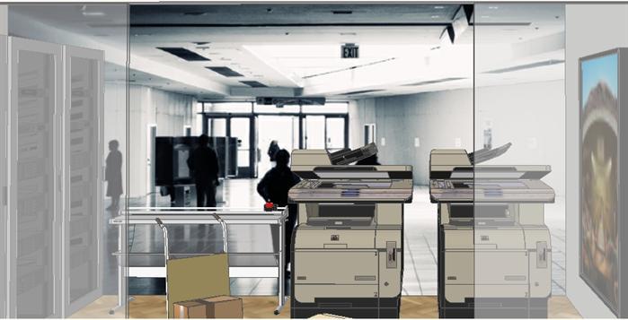某现代办公室整套室内设计方案su模型