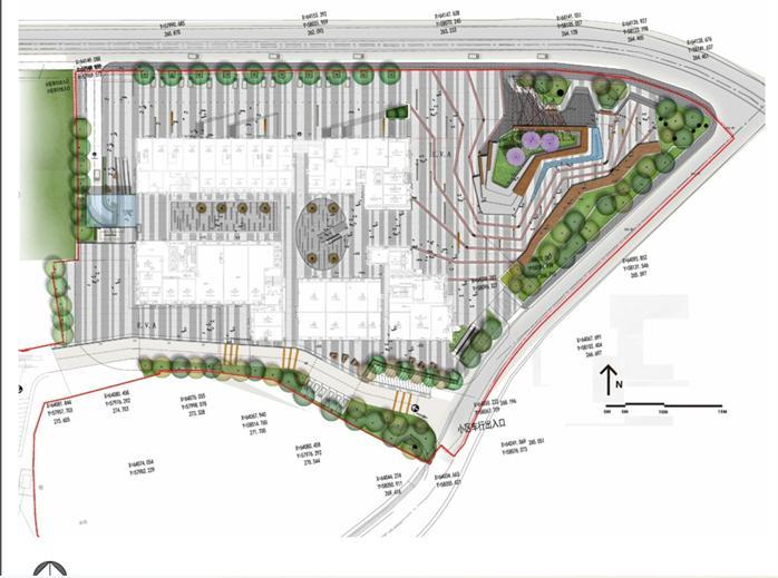 重庆某西郊医院城市广场商业街景观设计方案文本[原创]