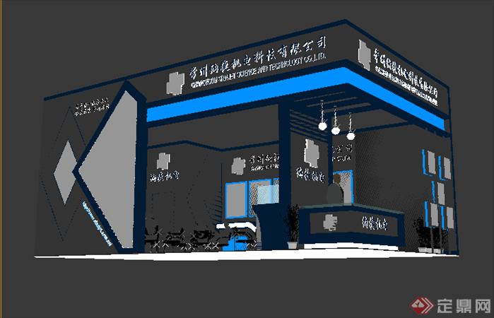 某服装机械展厅设计方案3dmax模型图片