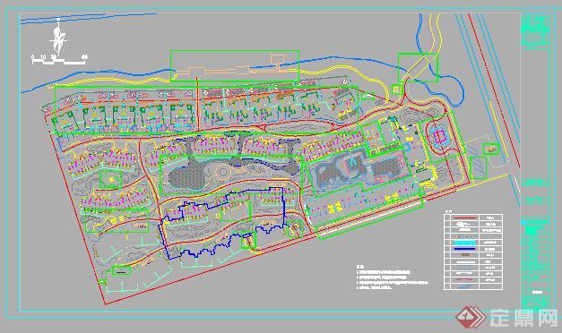 某东南亚风格山庄住宅景观设计施工图 dwg格式