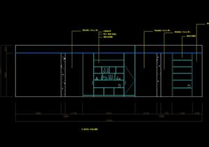 某现代餐厅室内装饰装修细部大样图(CAD施工图)