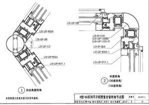 某现代节能门窗细部大样图集(CAD施工图)