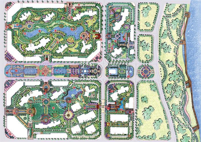 100张景观设计总平面图