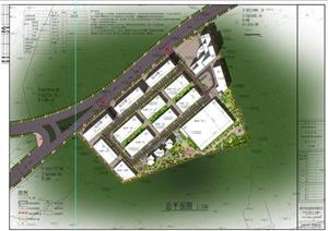 某厂区规划设计总平面图