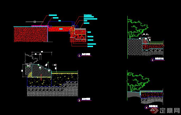 某园林景观道路铺装施工图设计CAD图纸(2)