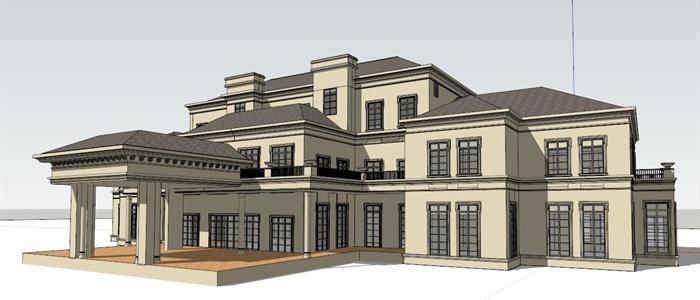 某欧式会所建筑设计su模型(1)[原创]