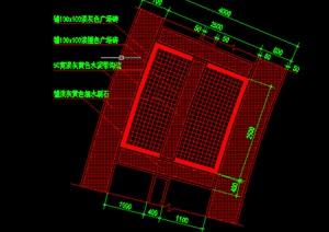 某园林景观道路铺地铺装施工图设计CAD图纸-地面铺装园林景观细部