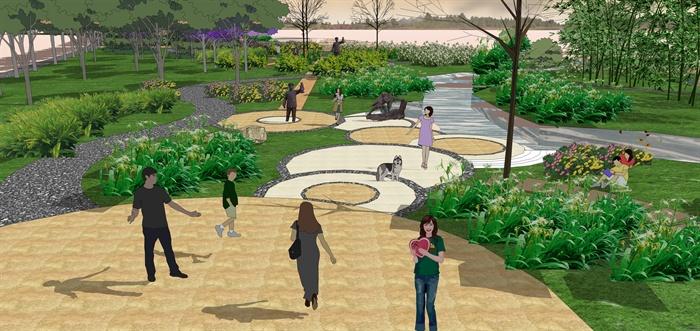 某现代湿地公园景观规划设计su模型素材[原创]