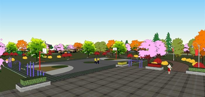 某大型主题公园景观规划设计su模型素材[原创]