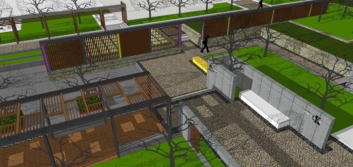 某现代风格住宅景观规划设计su模型素材2