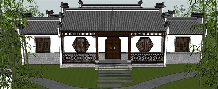 二层徽派乡村别墅, 只要50万, 最爱院子和地下室