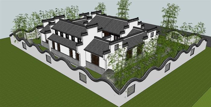 农村自建平房四合院设计图展示