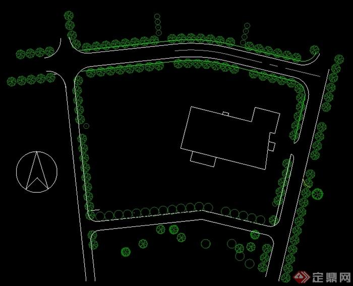 某居住区建筑景观设计平面图2