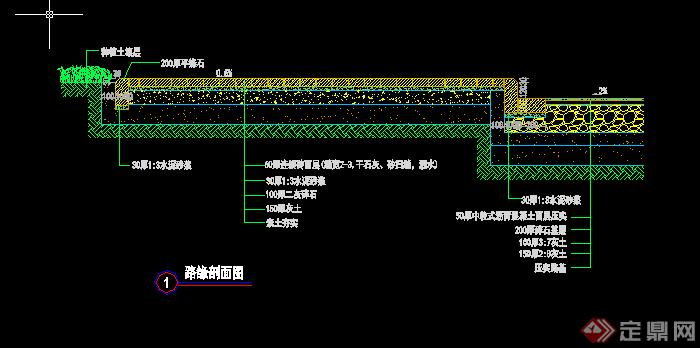 某园林道路铺地施工图设计CAD方案(1)