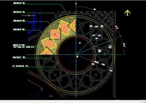 腺o�y���ojz/k�.�#�.b9�-_某园林圆形广场铺装扩初图设计cad图纸