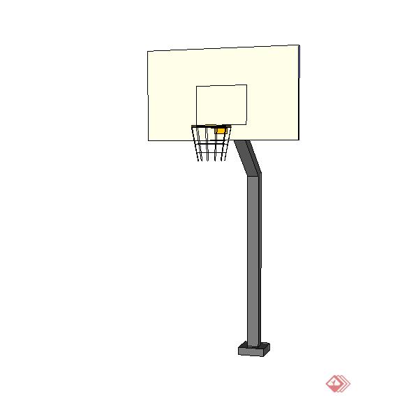 某篮球场篮板设计su模型素材