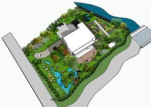 某古风别墅景观设计方案庭院别墅杭州图片