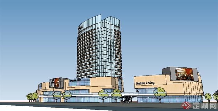 某现代商业建筑设计方案su模型5