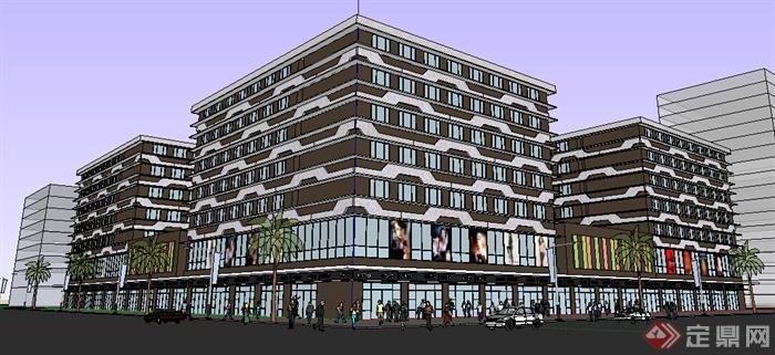 某现代商业建筑设计方案su模型8(1)