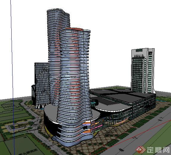 某现代商业建筑设计方案su模型11(1)