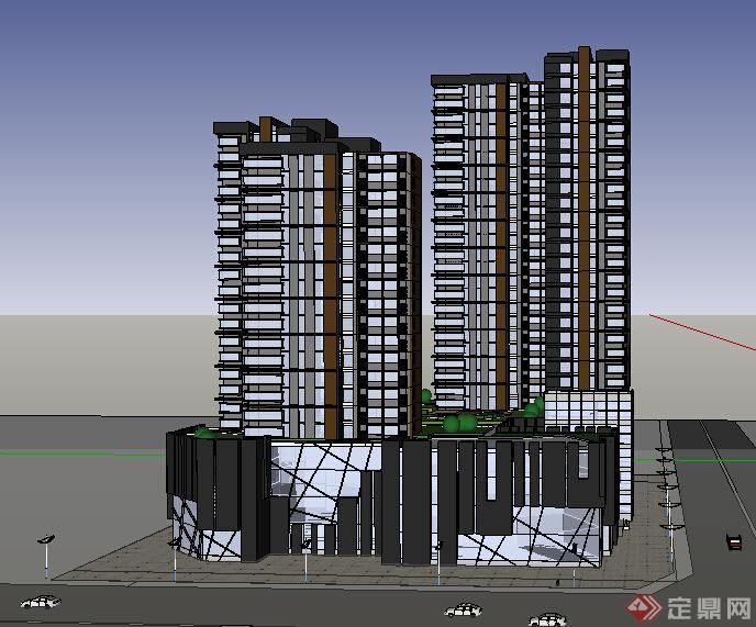 某现代商业建筑设计方案su模型12