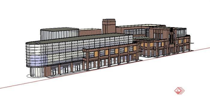 某现代商业建筑设计方案su模型15 1