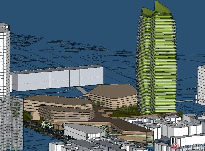 某现代商业建筑设计方案su模型17
