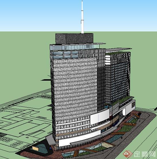 某现代商业建筑设计方案su模型19