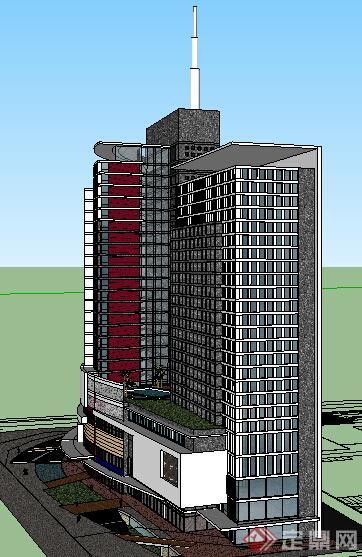 某现代商业建筑设计方案su模型19(2)