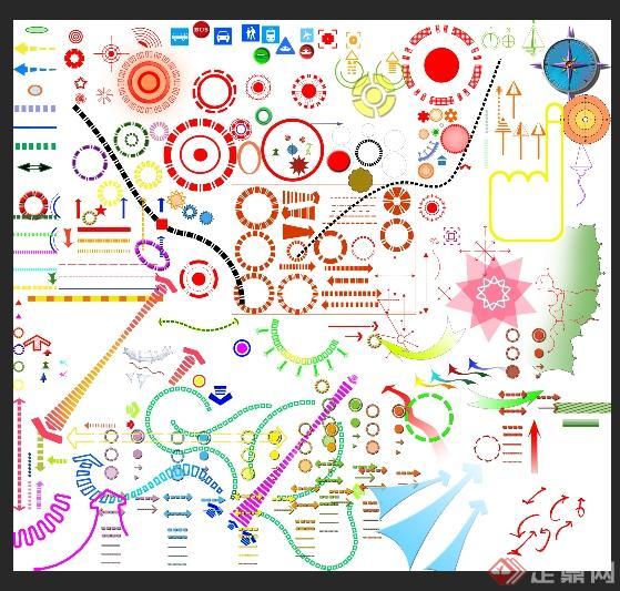 多种分析图专用箭头图片PSD格式(1)