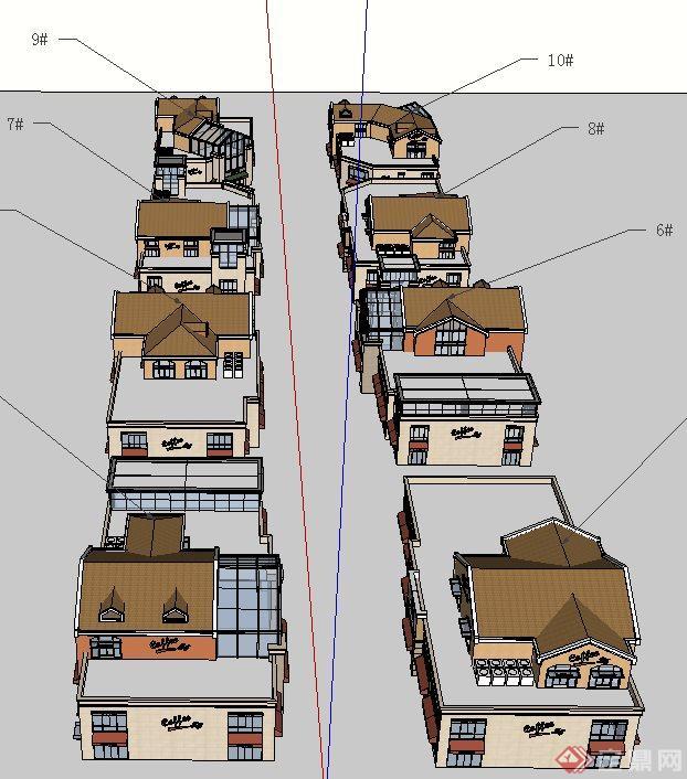 某欧式商业建筑设计su模型2
