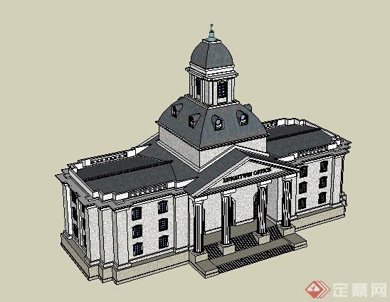 某欧式会馆建筑设计方案su模型[原创]