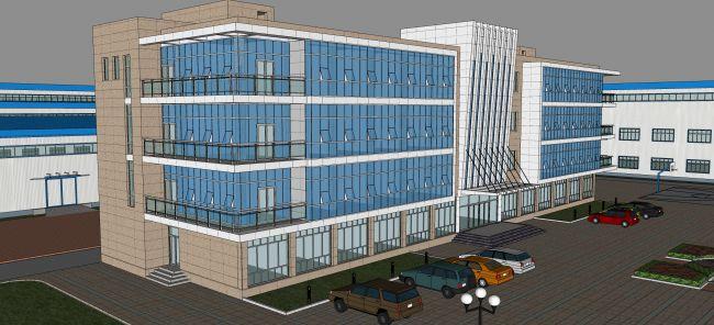 某厂区现代办公楼建筑设计su模型
