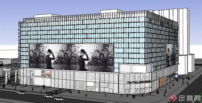 某商业广场购物中心商业建筑设计su模型